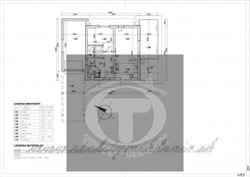 Ponuka - Na predaj - Hrubá stavba rodinného domu, garáže a terasy so všetkými inžinierskymi sieťami. obr1