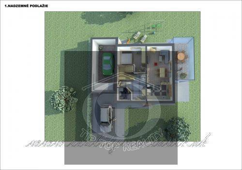 Ponuka - Na predaj - Hrubá stavba rodinného domu, garáže a terasy so všetkými inžinierskymi sieťami. obr3